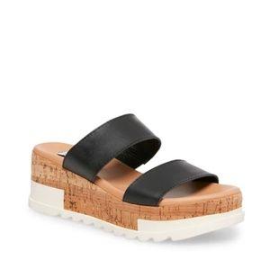 Steve Madden Blaine Black Platform Sandals